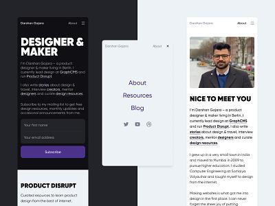 Responsive – darshan.design about header webflow web design ui responsive design portfolio