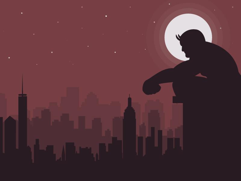 Daredevil Illustration superhero marvel minimal illustration daredevil