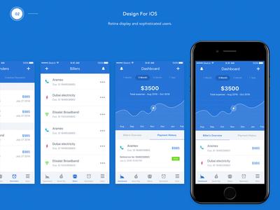 YuPay – Design For iOS indiez ui graph chart retina apple ios app app design payments bill yupay