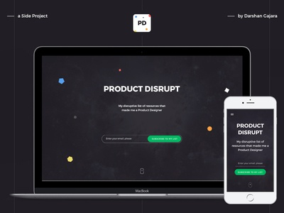 Product Disrupt inspiration resources interaction behance freebie ux ui disrupt product