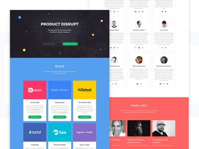 Product Disrupt – Live inspiration resources freebie ui disrupt product landing page