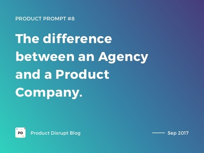 Product Prompt #8 on Product Disrupt Blog agency gradient typography quote blog design product product prompt