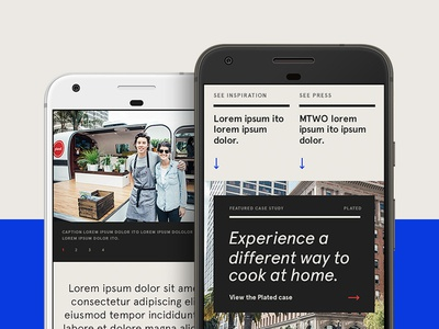 MTWO – Mobile mobile case study features interaction agency website behance design