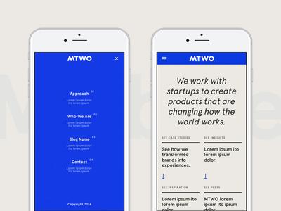MTWO – Menu & Navigation design behance website agency interaction menu case study mobile
