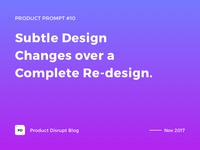 Product Prompt #10 on Product Disrupt Blog