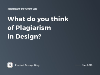 Product Prompt #12 on Product Disrupt Blog gradient typography quote blog design product product prompt plagiarism