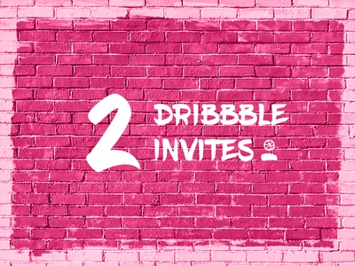 2 Dribbble Invites Giveaway dribbble invite freebie giveaway lettering typography splash