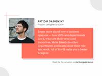 A Conversation with Artiom Dashinsky