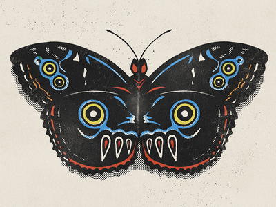 Moth 2 drawing digital illustration butterfly procreate insect moth art halftone illustration texture