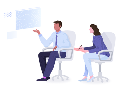Webpage illustration for video demos corporate sharing business people illustration banner video
