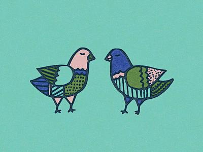 your cool aunt frances birds illustration