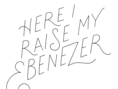 an inline that I enjoyed by itself lettering hand lettering