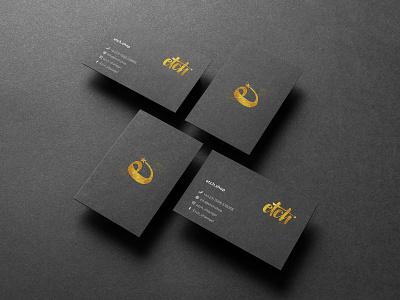 Etch Business Cards print stationery identity businesscard branding logo brand design creative