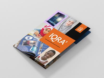 IQRA Marketing Brochure typogaphy educational print marketing leaflet trifold brochure design brochure creative design