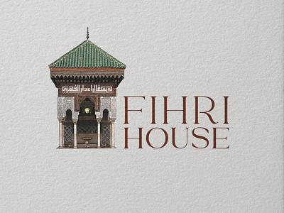 Fihri House Logo inspiraldesign graphic design islam brand logo typography branding arabic creative design