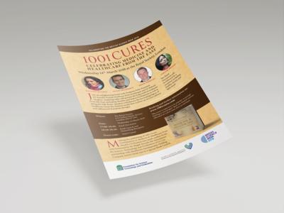 1001 Cures Flyer Design
