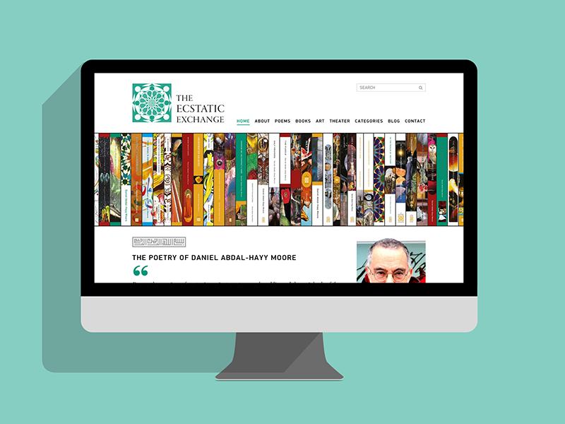 Ecstatic Exchange Website web design ecstatic exchange graphic design web design ideas poetry books interactive website muslim design