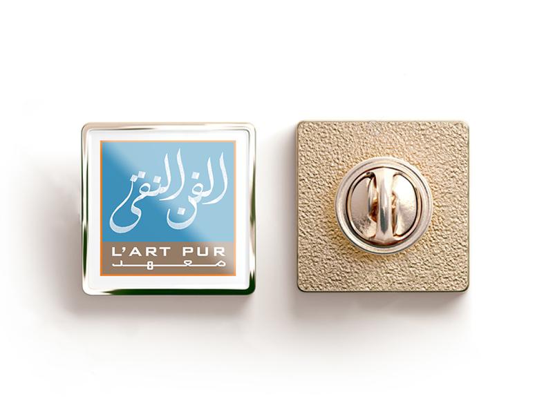 L'Art Pur Logo logo mark logo type gallery art calligraphy multilingual arabic logo branding brand design creative