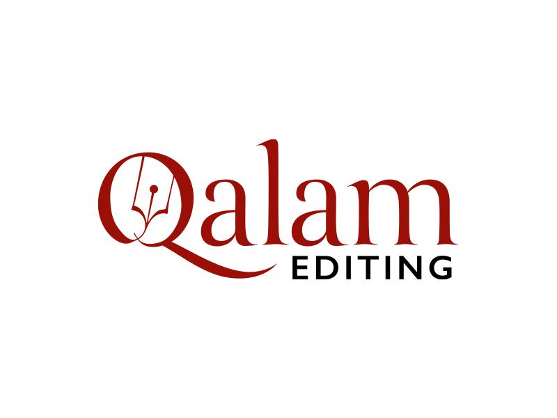 Qalam Editing Logo logo mark logo type pencil reed qalam consultancy publishing logo branding brand design creative