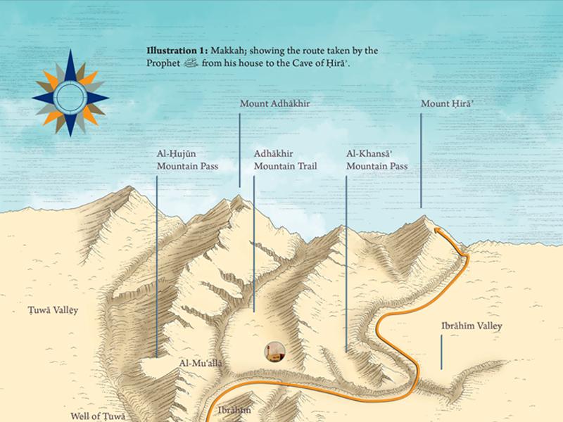Illustration of Makkah khadijah drawing map makkah print illustration design creative