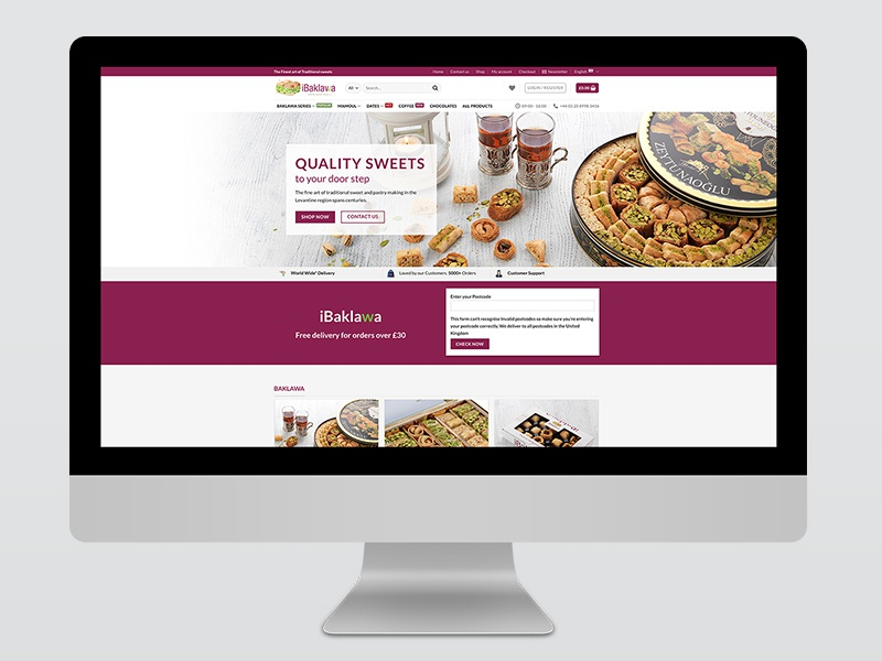 iBaklawa sweets baklava english arabic multilingual website webpage webdesign design creative digital inspiral design