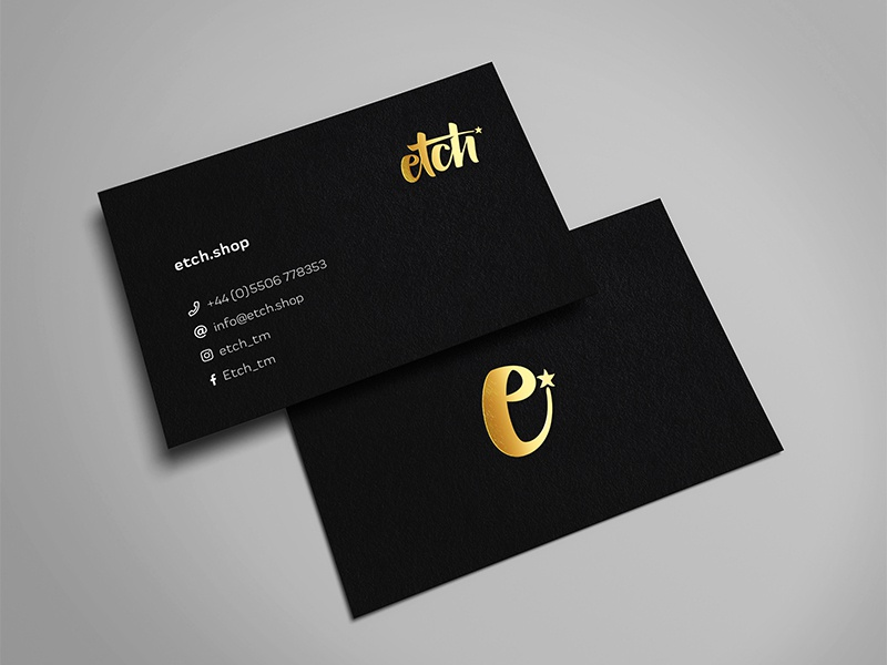 Etch Business Card gfsmith barber businesscard stationary print branding brand graphicdesign design creative inspiraldesign