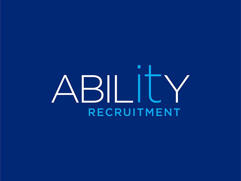 Ability Logo recruitment it typography branding brand logo logodesign design creative inspiraldesign