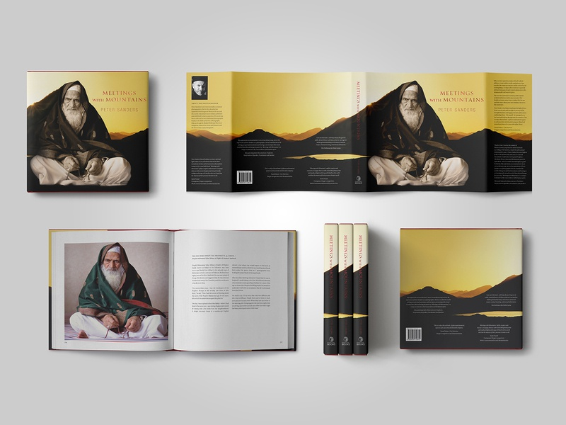 Meetings with Mountains scholar sufi islam traditional photography printdesign bookdesign typography design