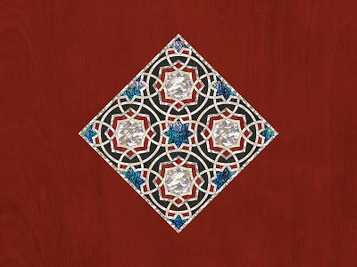 Geometric Table Inlay Design islamicart woodworking interior design geometric creative design