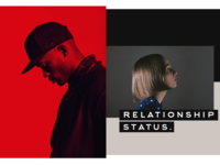 Relationship Status people red layout
