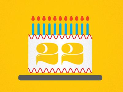 twenty-two birthday twenty-two cake