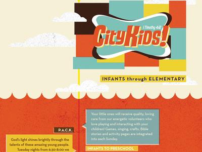 CityKids! Brochure kids childrens brochure waves flag