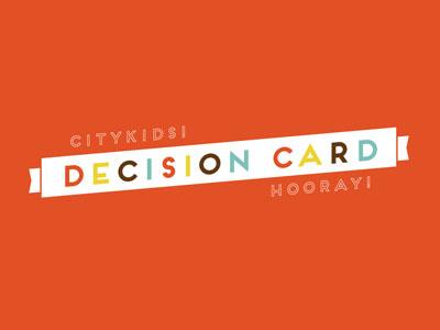 CityKids! Decision Card decision kids card