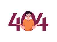 404 Page Character Illustration