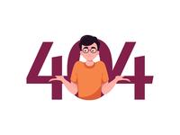 404 Page Character Illustration minimal ui web design error page 404 page flat illustration character design character character illustration vector illustration