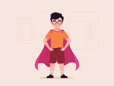 Enset About Page Illustration superhero web design ui minimal flat illustration character design character character illustration vector illustration