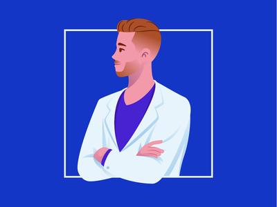 Doctor at Work medic medical healthcare doctor flat vector illustration character design character 2d illustration
