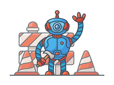 Robot character technology illustration robot illustration robotic robot character illustration minimal icon vector illustration