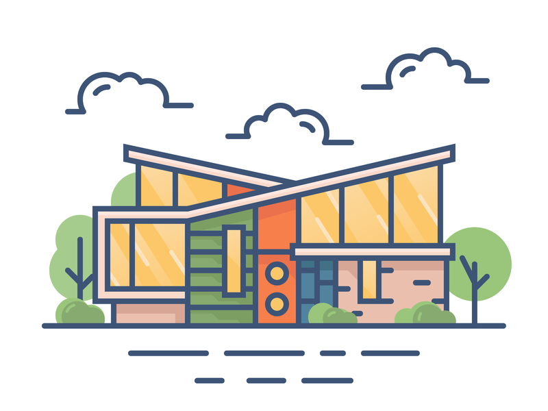 Another Building modern modern house house illustration house building illustration building design building design minimal icon vector illustration