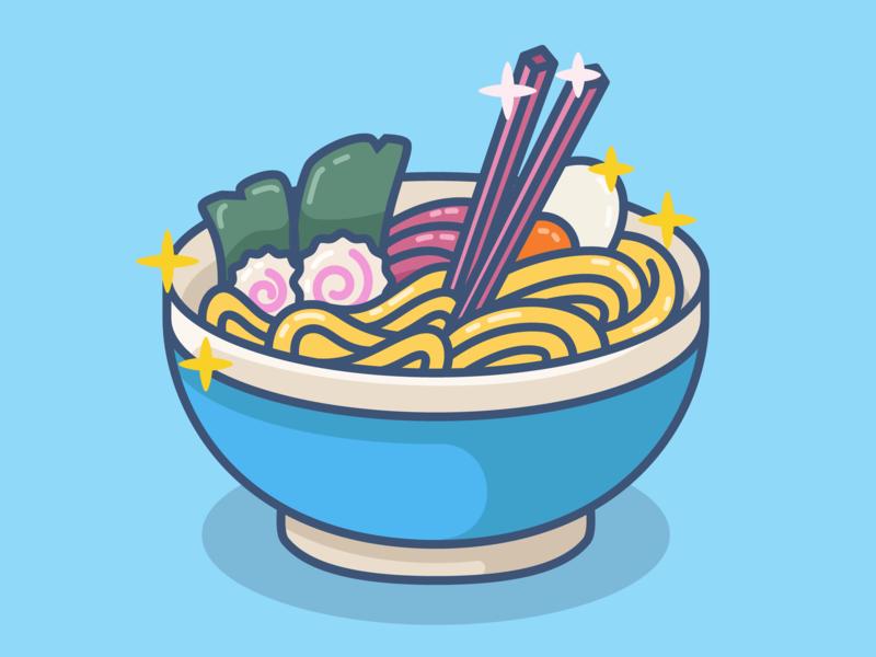 Ramen japanese food delicious noodle ramen food illustration food design minimal icon vector illustration