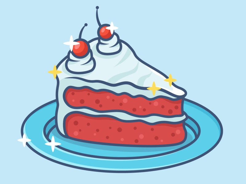Red Velvet Cake delicious dessert red velvet cake food food illustration cake illustration cake design minimal icon vector illustration