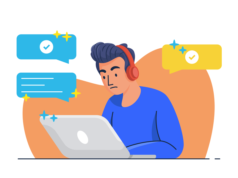Working Alone freelancing alone work character character illustration design minimal icon vector illustration