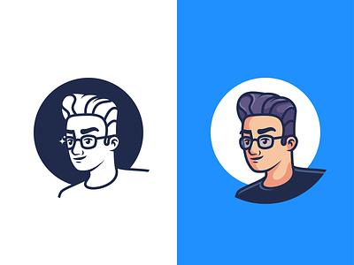 Self Portrait (100% Illustrated) avatar design avatar character character illustration minimal icon vector illustration
