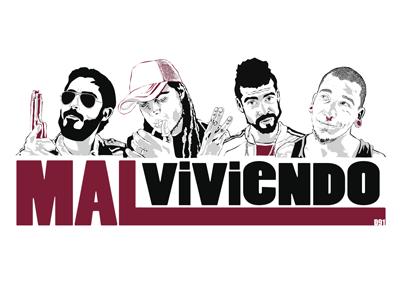2008 | Malviviendo personajes webserie malviviendo logo retratos ilustración
