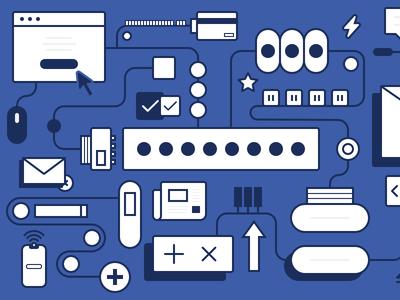 Transactional Emails design icon illustration