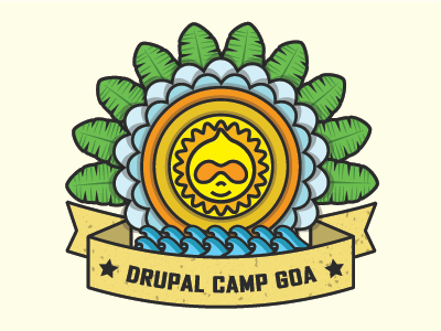 Drupal Camp Goa Sticker