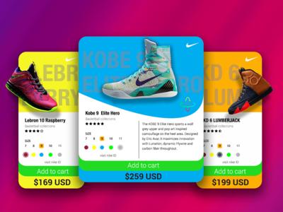 Kicks Product Price Card