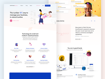 Shoptiques Business illustration features reviews testimonials ui icons startup clothing fashion colors ecommerce home page website design web design website landing page