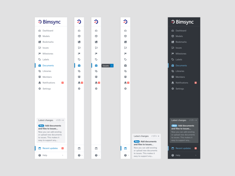 Navigation Bars construction bim dashboard links menu dark mode light mode ux ui webapplication webapp design webapp web bar navigate navigation drawer navbar nav navigation menu navigation