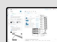 Viewpoint sidebar toolbar tools webapp design web webapplication webapp ui ux architecture menu dashboard bim construction